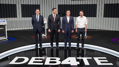 Los cuatro líderes políticos nacionales.