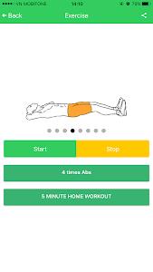Abs 5 minutes workout screenshot 12