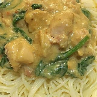 Satay Chicken & Spinach.