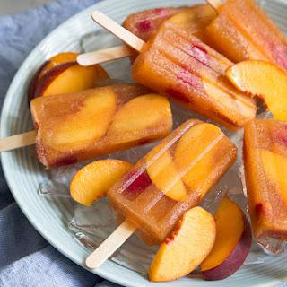 Raspberry Peach Sangria Popsicles