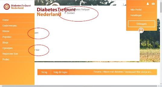 Voorbeeld van webpagina indeling, nog niet helemaal in orde.