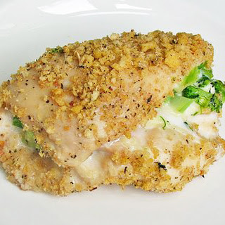 Skinny Broccoli and Cheese Stuffed Chicken.