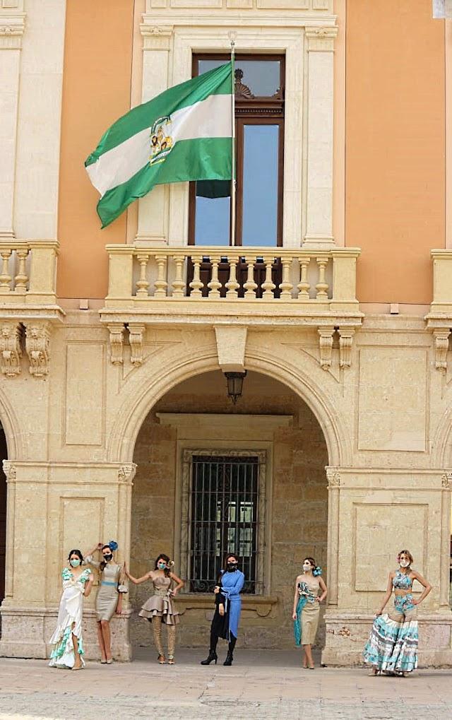 Celebrando el Día de Andalucía en la clausura del curso de Moda Flamenca.