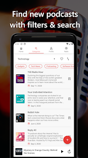CastMix Podcasts - Podcast and Radio player Screenshot