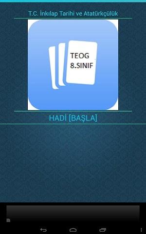 android İnkılap Tarihi (TEOG) 8.SINIF Screenshot 0