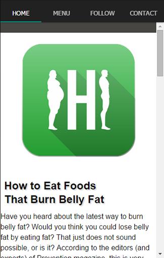 快速健康食品燃烧脂肪