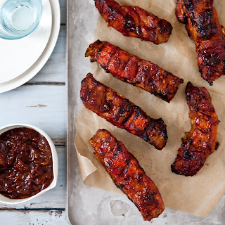 Country-Style Ribs with Apple-Bourbon Barbecue Sauce.