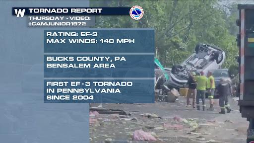 PA/NJ Tornado Thursday Rated An EF-3