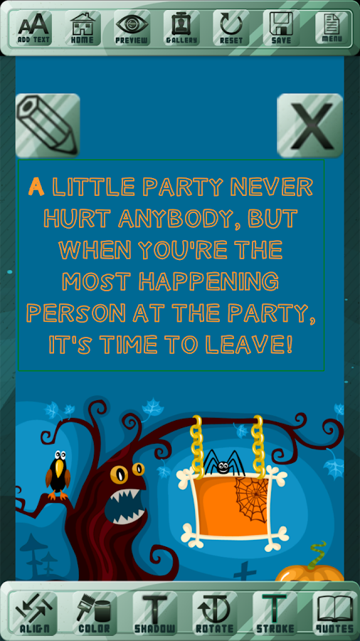 Creepy Party Invitation Cards- screenshot