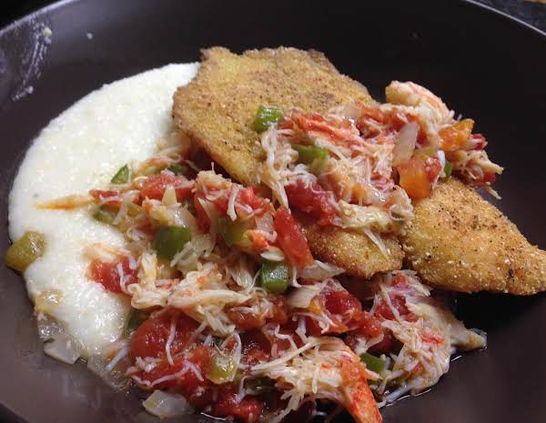 Tilapia With Warm Crab Salsa & Manchego Grits Recipe