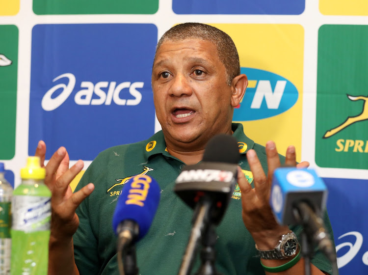Allister Coetzee, coach of South Africa during 2017 Castle Lager Outgoing Tour Press Conference at Tsogo Sun Palazzo Hotel, Montecasino South Africa on 02 November 2017.