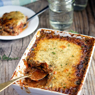 Eggplant Gratin with Tomato, Herbs and Creme Fraiche Recipe