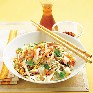 Asian Chicken and Rice Noodle Salad.