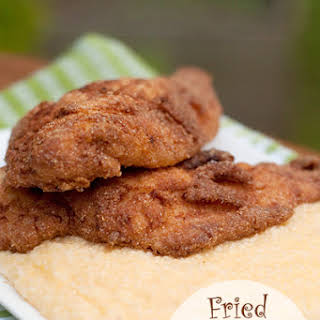 Fried Catfish with Cheese Grits.