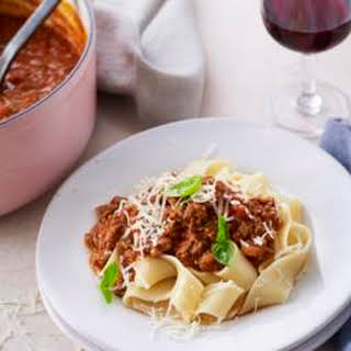 Bolognese Ragù With Pappardelle.