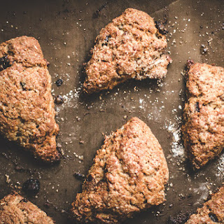 Pecan and Dried Cranberry Oat Scones