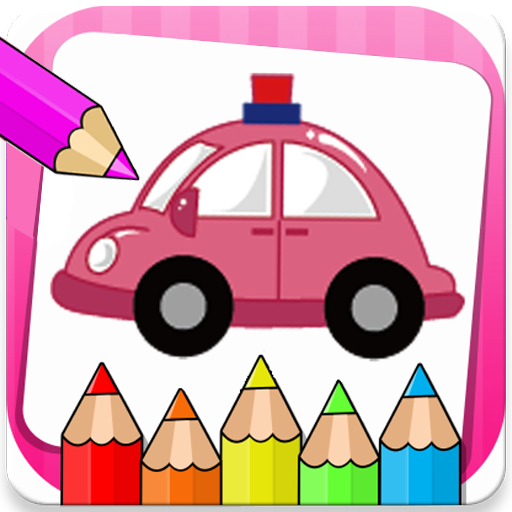 Kids Coloring Pages For Cars Icon