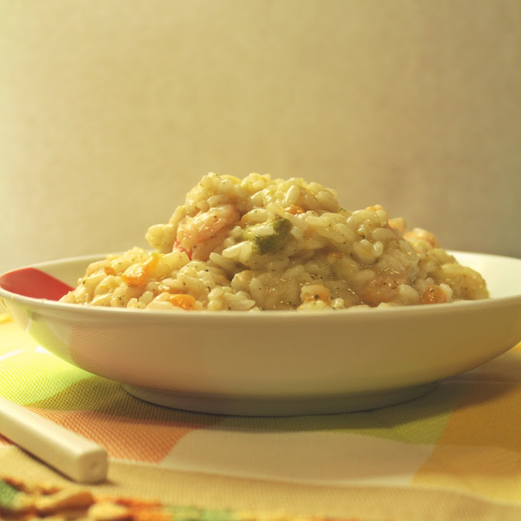 Pumpkin, Broccoli and Shrimp Risotto