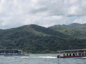 Photo: Crossing Lake Arenal