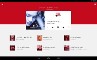 Screenshot of Chérie FM Radio