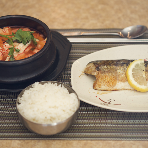 Grilled Mackerel & Soft Tofu Stew with Vegetables