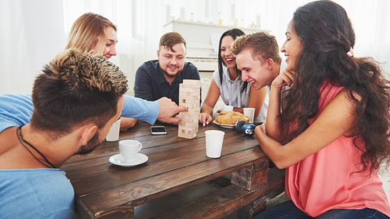 a group of friends playing a game