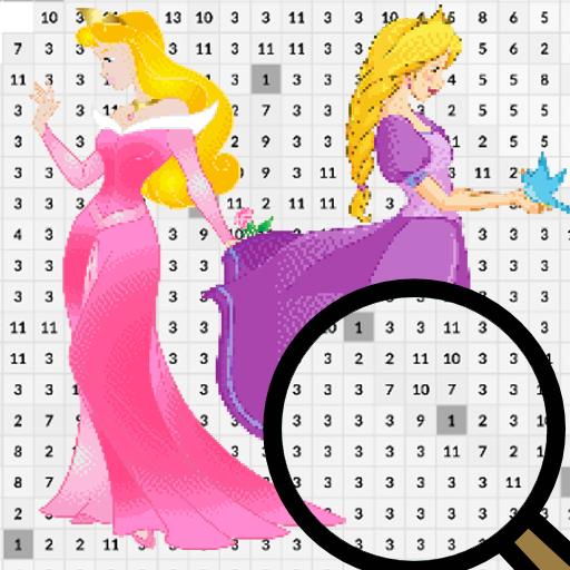 Princess Pixel Art Coloring By Number Google Play De Uygulamalar
