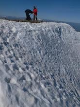 Photo: Als darrers metres la inclinació és mes forta (45~50º?)