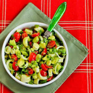 Artichoke Salad with Avocado and Hearts of Palm.
