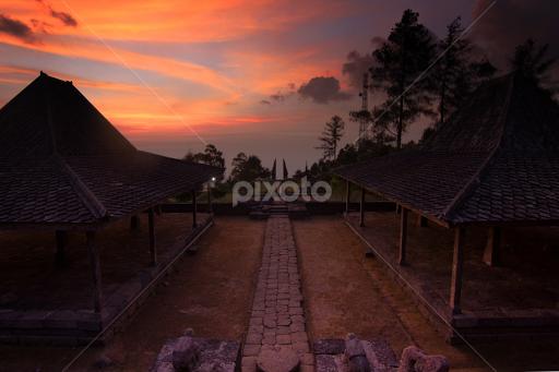 Sunset At Candi Cetho Sunsets Sunrises Landscapes Pixoto