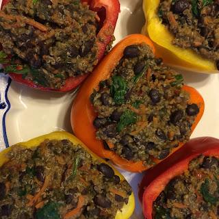 Bean & Quinoa Stuffed Peppers