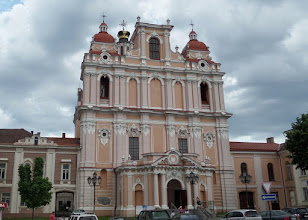 """Photo: Saint Casimir was built in the 1750's as a Catholic church.  Napoleon used it for a granary.  Russians added """"onion domes"""" and turned it into a Russian Orthodox Church.  It became a Lutheran Church to serve the German army in World War I.  Then the Soviets used it as a Museum of Atheism in 1963."""
