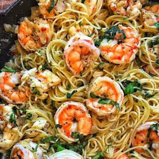 Quick Lobster & Shrimp Scampi.