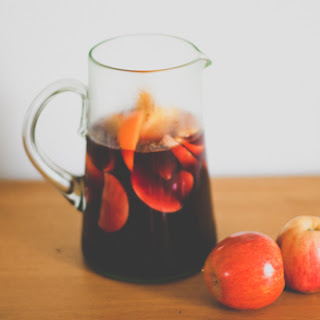 Fall Sangria with Homemade Apple Juice