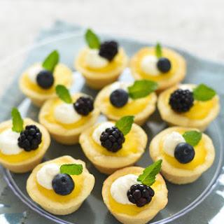 Mini Meyer Lemon Tarts with Ginger Cookie Crust Recipe