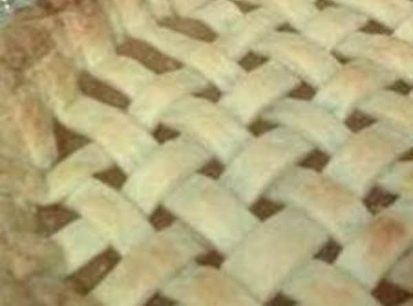 Pineapple Pie Shown With Lattice Crust