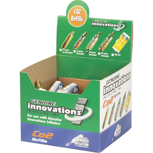 Genuine Innovations 16g Threaded Cartridges: Box of 20