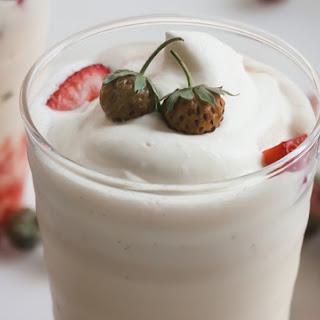 Strawberries and Cream Milkshakes.