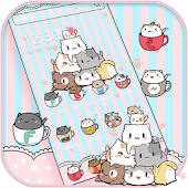 Cup Kitty Theme Wallpaper