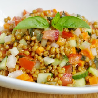 Wheat Berry Salad With Tomatoes And Basil