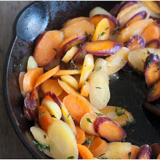 Heirloom Carrots with Honey-Thyme Butter (+ a book review).