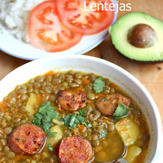 Sopa de Lentejas (Colombian-Style Lentil soup).