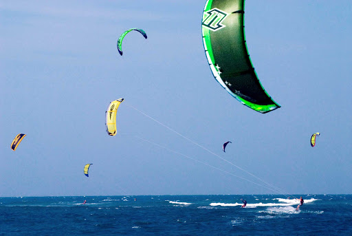 Dominican-Republic-sailboard - Sailboarding in the Dominican Republic.