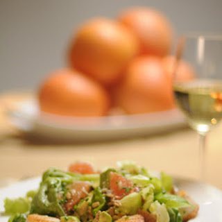 Seared Scallops and Butter Lettuce Salad with Grapefruit Vinaigrette