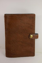 Photo: S1001 ($59.95) Hair-on-Hide leather, Brown color for Hardcover Big Book (Snap & Strap)