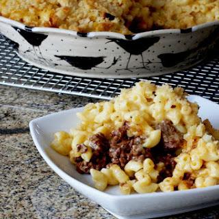 Sloppy Joe Macaroni and Cheese Casserole.