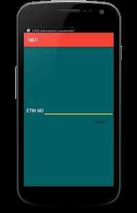 NBR e-TIN Check - náhled