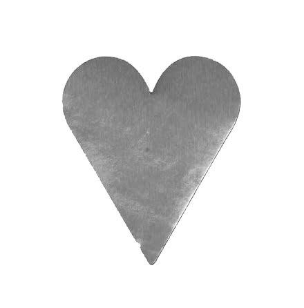 Etikett hjärta litet silver