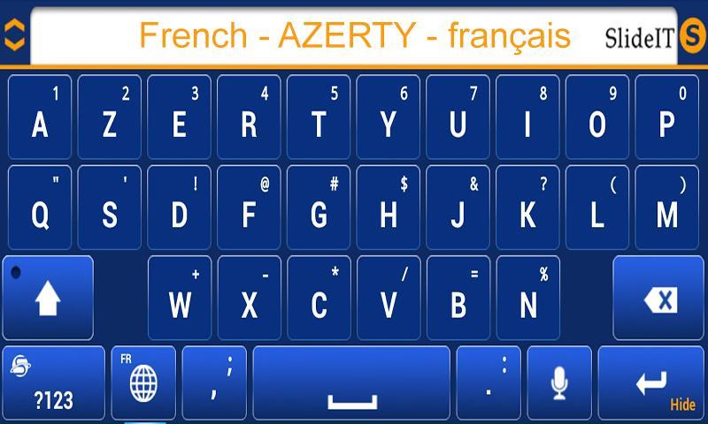 Скриншот SlideIT French AZERTY Pack