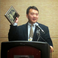 Photo: Shijian Li, MA, MSW, PhD - Best Published Paper Award